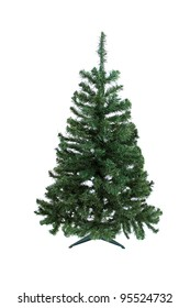 Christmas pine tree for decoration isolated on white background
