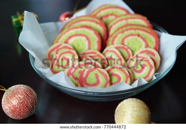 Christmas Pinwheel Cookies.Christmas Pinwheel Cookies Stock Photo Edit Now 770444872