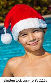 Christmas at the pool