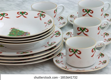 Christmas porcelain dinnerware set perfect image for your next project.