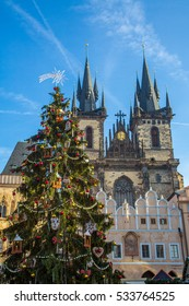 Christmas in Prague and the Christmas market on the square