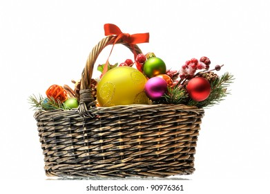 christmas present in the basket