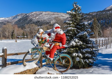 Christmas presents by bike