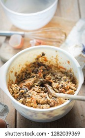 Christmas pudding butter in bowl