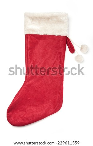 Christmas Red Socks Gift Isolated White Stock Photo (Edit Now