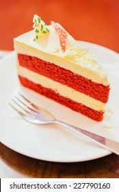 Christmas Red velvet cake - vintage effect style pictures