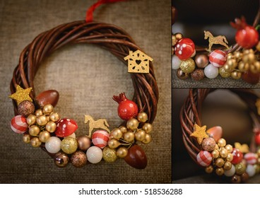 Christmas rustic vintage decoration - collage