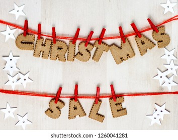 Christmas sale an gingerbreads.