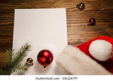 Christmas Santa white paper background