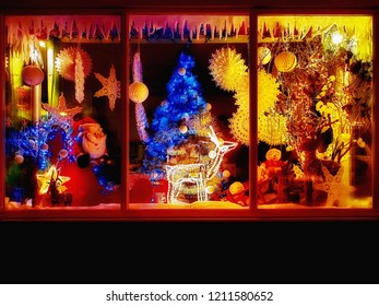 Christmas shop with festive decorations