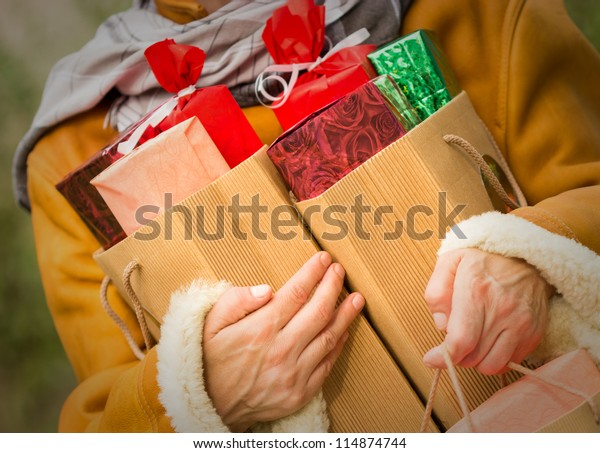 Christmas shopping - shopping bags