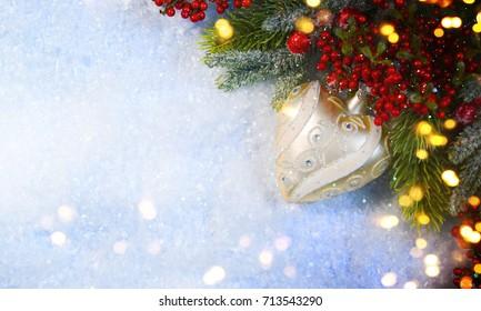 Christmas snow background.