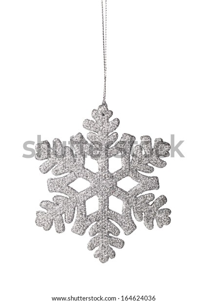 Christmas snowflake ornament on a white background