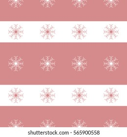 Christmas snowflakes seamless background. New year pattern  illustration.
