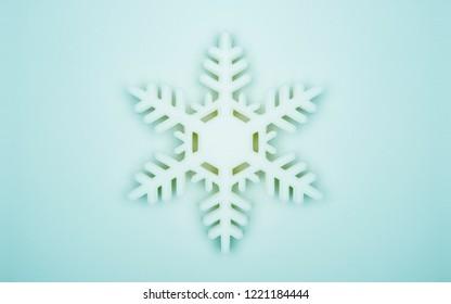 christmas snowfrake abstract