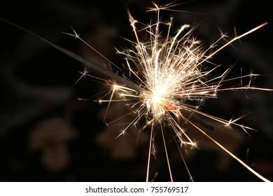 Christmas sparkler, bonfire