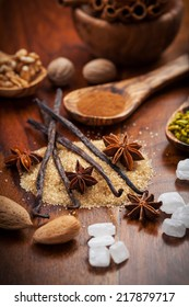 Christmas spices, nuts and baking ingredients