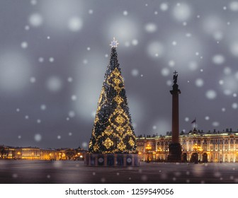Christmas in St. Petersburg. Russia