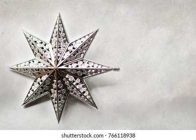 A Christmas star decoration