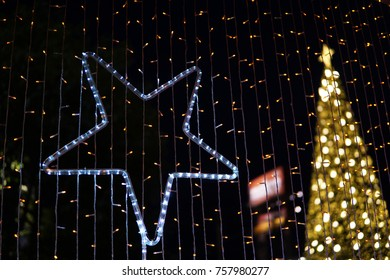 Christmas star Lighting and Bokeh light