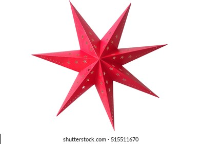 Christmas star on a white background.