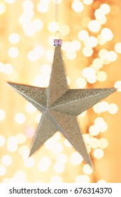 Christmas star ornament close-up