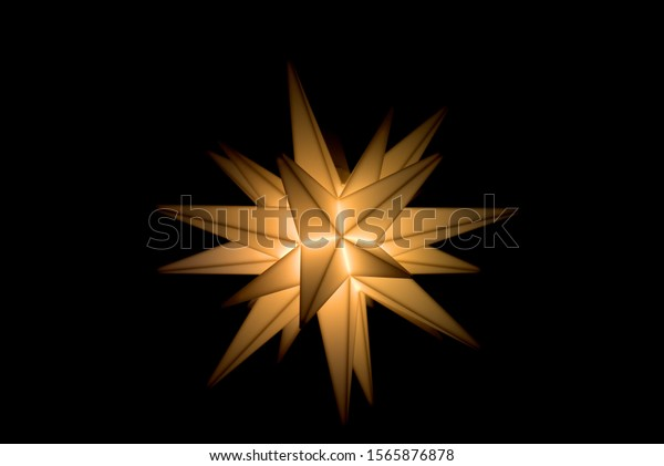Christmas star shines bright in the dark