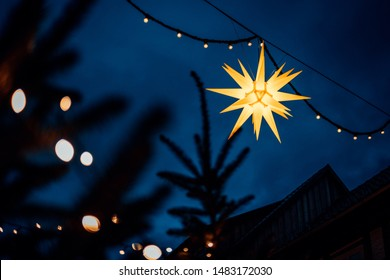 Christmas star shines in the sky