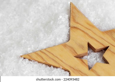 Christmas star in the snow