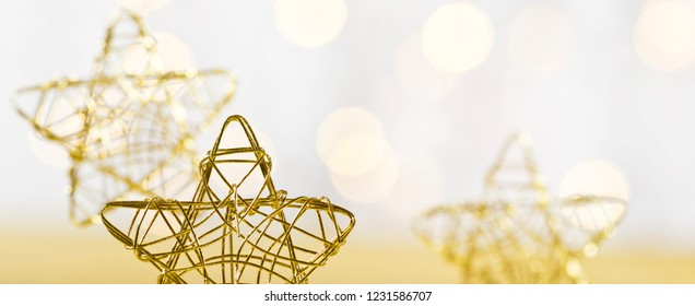 Christmas star from wire on the white background