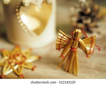 Christmas still life with angel