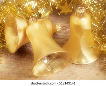 Christmas still life with bells