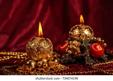 Christmas still life with candles