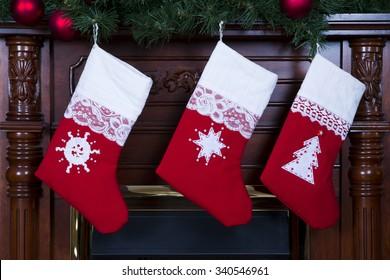 Christmas stockings close-up