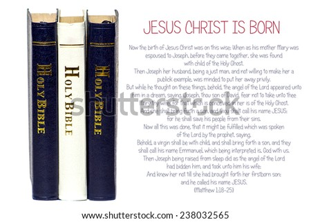 christmas story from the book of matthew holy bible text on white background - Biblical Christmas Story