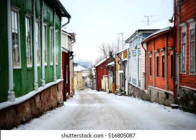 Christmas street. Porvoo, Finland.