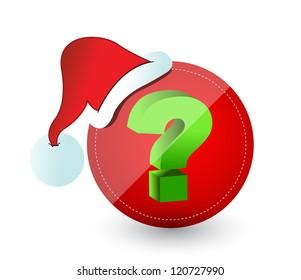 Christmas surprise concept illustration design over a white background design