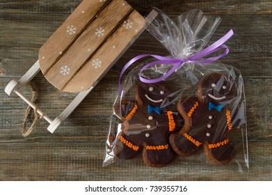 Christmas and Christmas sweets - gingerbread cookies! Very tasty and fragrant treat, a good gift, prepared by own hands