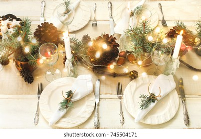Christmas table setting. & Table-setting Images Stock Photos \u0026 Vectors | Shutterstock