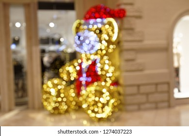 Christmas Teddy Decoration in Shopping Mall