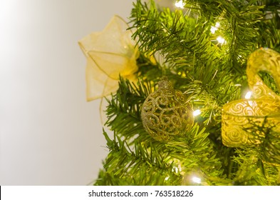 Christmas texture for backgrounds, Christmas tree, pine tree, decorated.