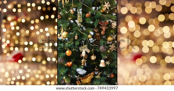 Christmas Textures.Christmas Textures Decoration Graphic Design Stock Photo