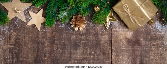 Christmas theme background in vintage tone