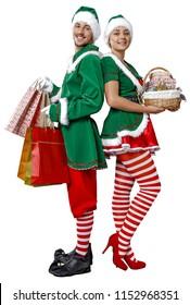 Christmas time and elf.