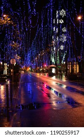 Christmas time in streets of Bilbao, Bizkaia, Basque Country, north of Spain.