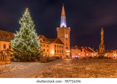 Christmas time in town Kadan, Czech republic