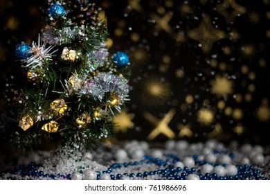 Christmas Time - Christmas Tree and snow.