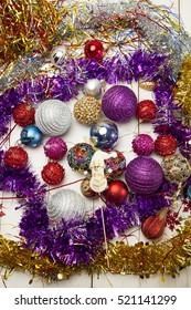 Christmas toys, purple