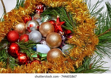 Christmas Toys Under The Christmas Tree For The New Year Ez Canvas