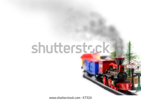 Christmas Train with Smoke
